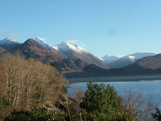 The view from up Loch Duich