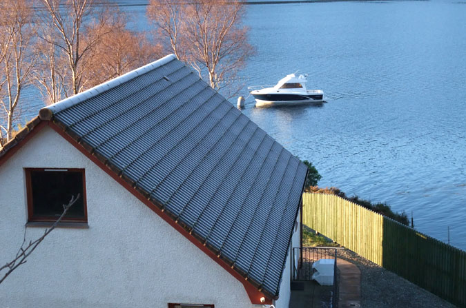 Winter frost on the roof of Seaside Cottage.
