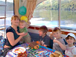Daniel's 1st birthday on board the boat