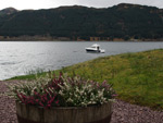 Our boat, the Monach Isles moored in Loch Duich